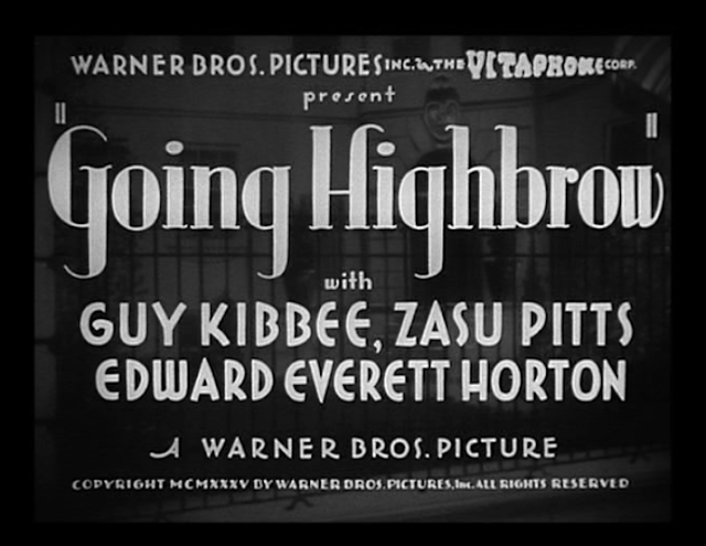 Going Highbrow (1935)