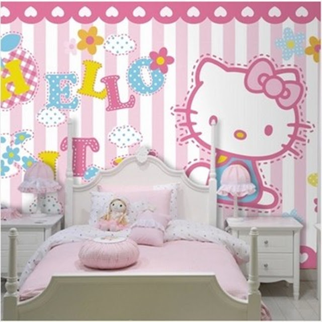 Wall Murals for Kids Room Hello Kitty Baby