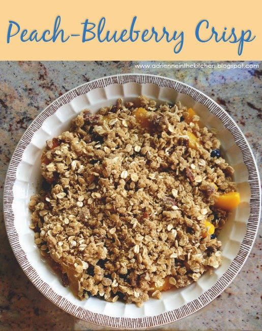 Summery Peach-Blueberry Crisp
