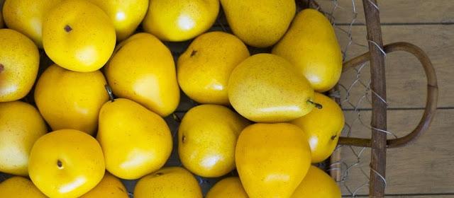 Marinated pears