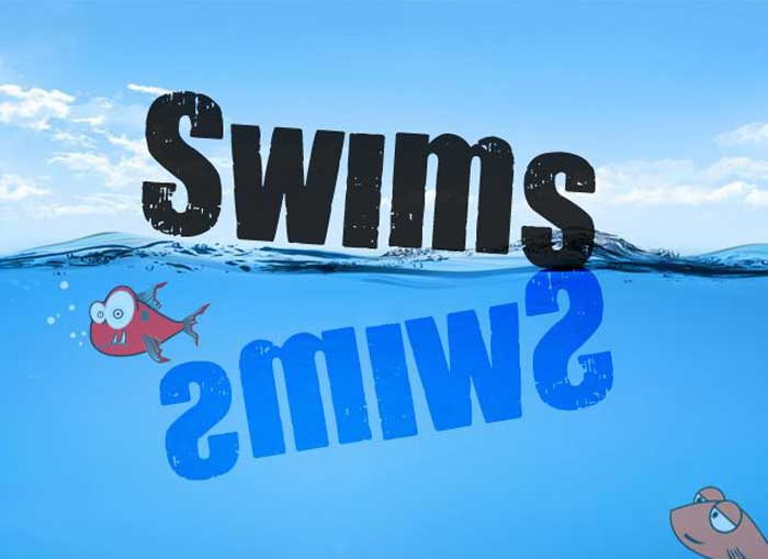 Swims will be swims even when turned upside down