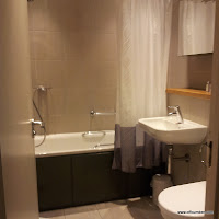 bathroom in the woodland lodge