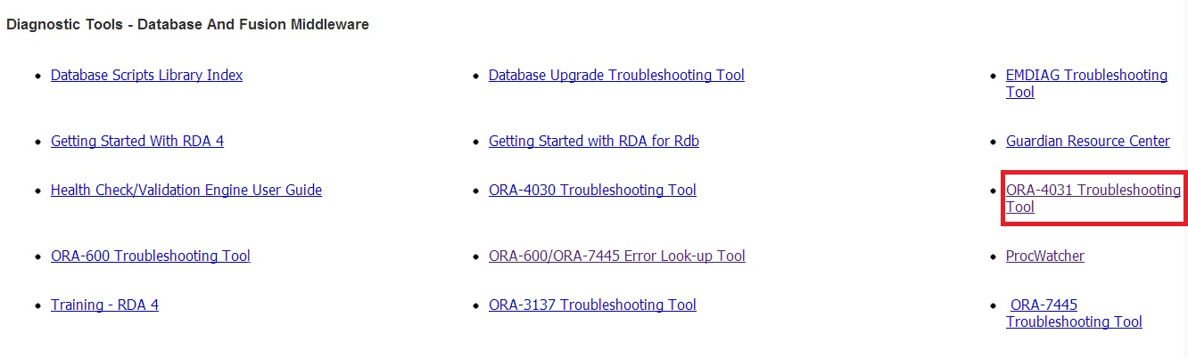 DBAs-Oracle com: 5 Easy Step to Solve ORA-04031 with Oracle