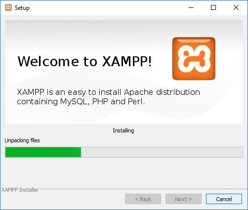 6. instalasi xampp bitnami processing