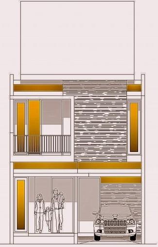 Desain Rumah Minimalis 2 Lantai Diatas Tanah 6×12 m2