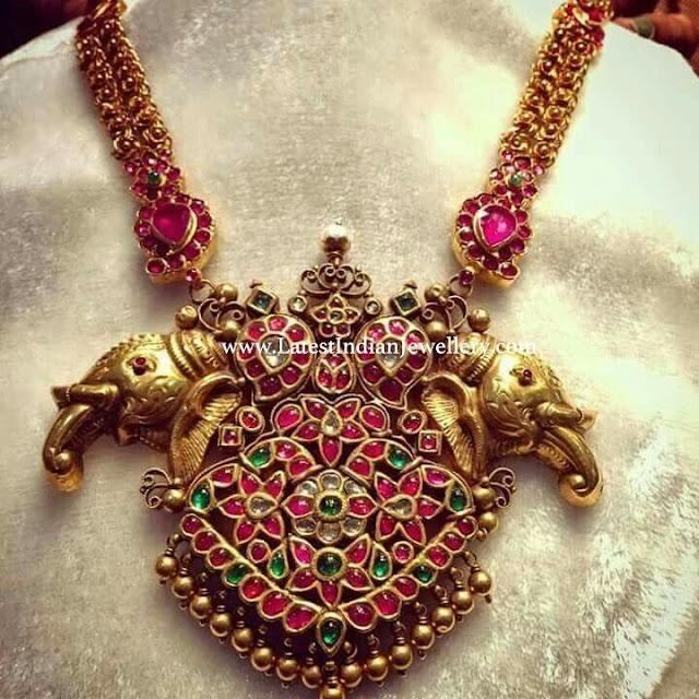Elephant Design Gold Necklace