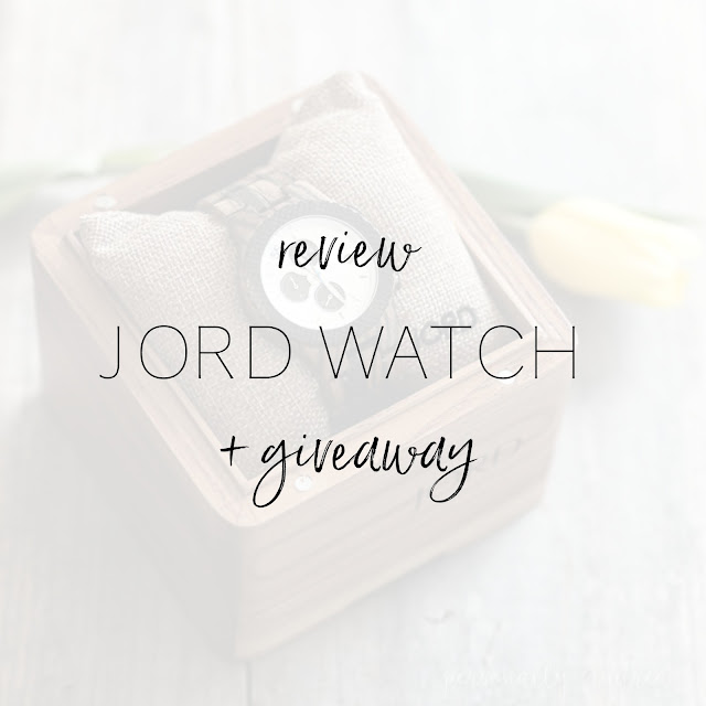 JORD wood watch review and giveaway | personallyandrea.com