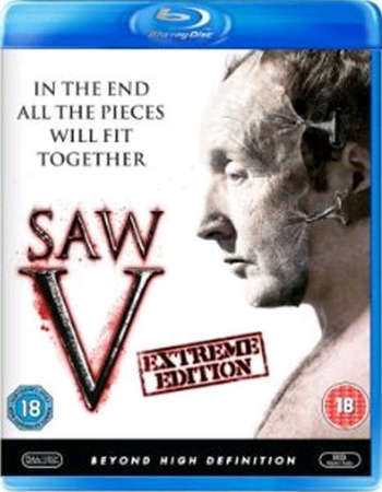 Poster Of Saw V 2008 English 300MB BRRip 480p Free Download Watch Online
