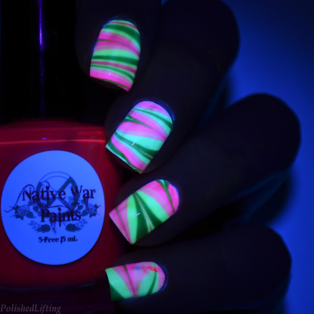 black light water marble