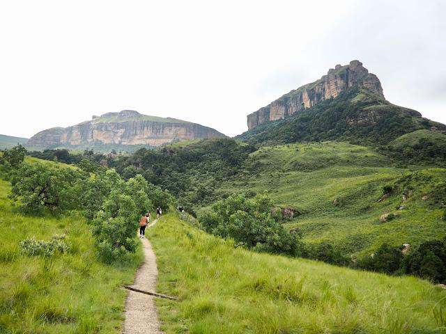 Waterfall hike, Drakensberg National Park, South Africa
