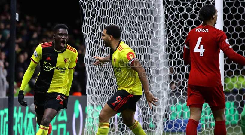 واتفورد يفعلها ويفوز على ليفربول ويلحق الخسارة الاولي به في الدوري الانجليزي