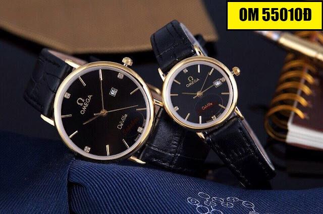 Đồng hồ cặp đôi dây da OM 5501Đ