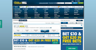 William Hill baseball page