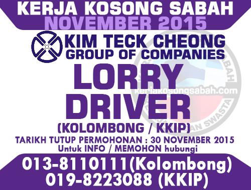 Kerja Kosong Lorry Driver | KTC Group | Jawatan Kosong