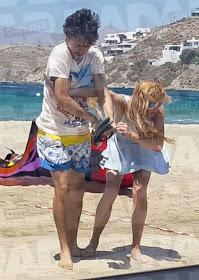Actress Lindsay Lohan and fiance