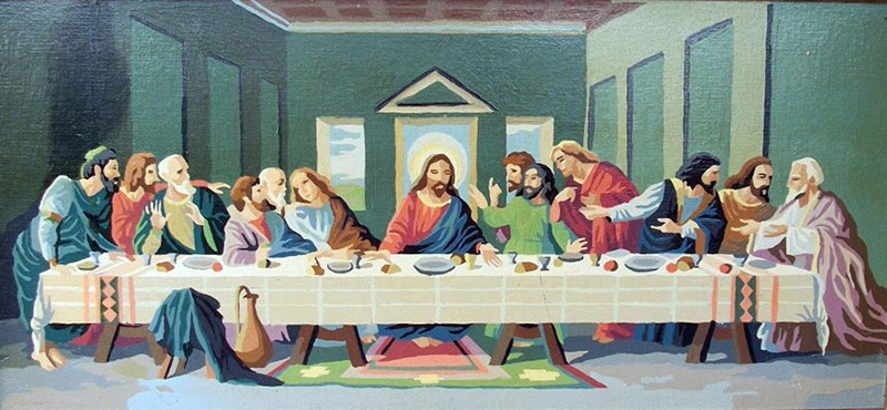A Paint-by-Numbers version of the Last Supper