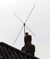 405 line X shape VHF TV aerial