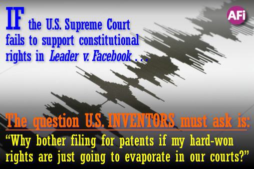 Will the U.S. Supreme Court support constitutional rights in Leader v. Facebook?