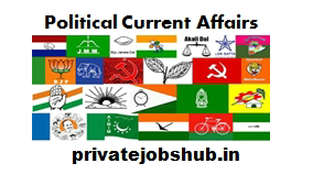 Political Current Affairs