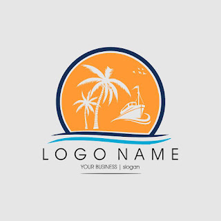 Cruise Ship Business Logo Template Free Download Vector CDR, AI, EPS and PNG Formats