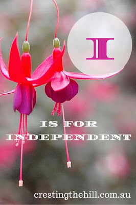 the A-Z challenge - Positive Personality Traits - I is for Independent