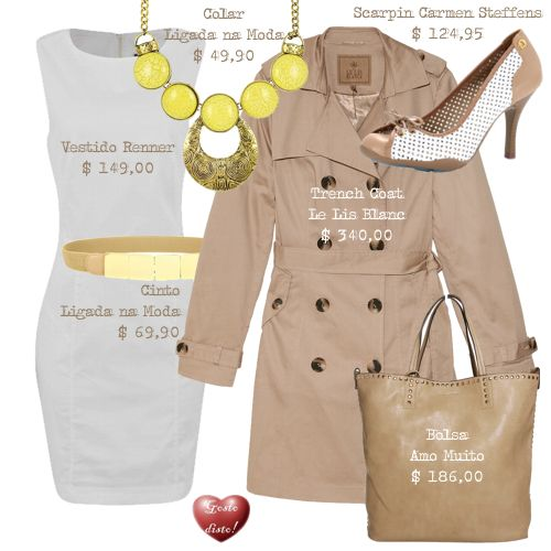Como usar: Bege com Branco - How to wear: Beige and White