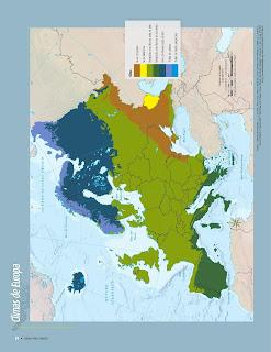 Apoyo Primaria Atlas de Geografía del Mundo 5to. Grado Capítulo 2 Lección 3 Climas de Europa