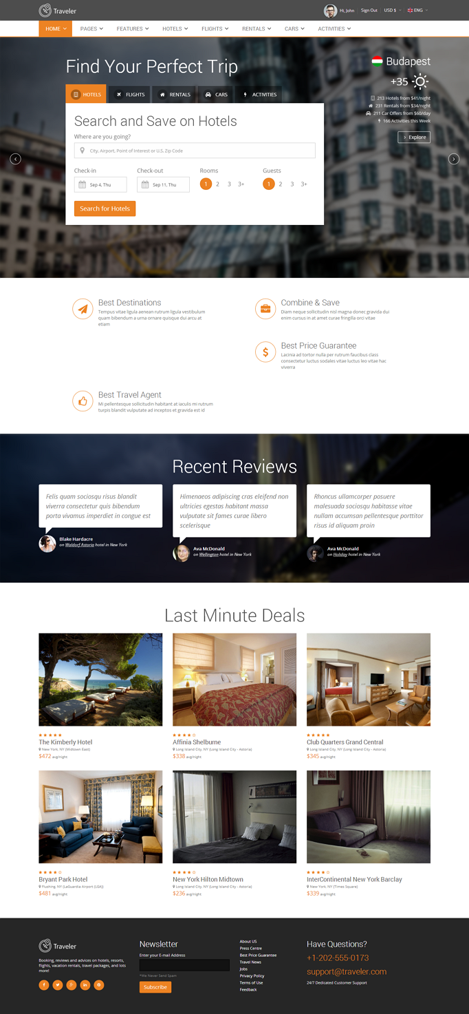 Responsive Travel website theme