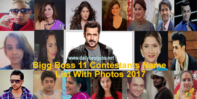 BB11 Contestants Name List With Photos 2017 (Bigg Boss 11