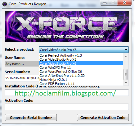 serial number for corel videostudio pro x6 - BARNEY'S