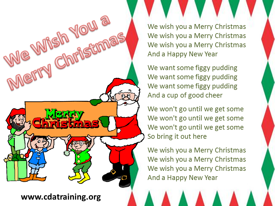 We Wish You A Merry Christmas Song.Child Care Basics Resource Blog We Wish You A Merry Christmas