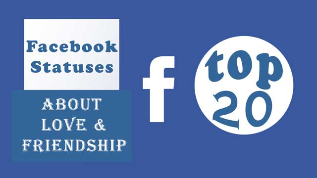 Best and most used facebook statuses about love from our collection. ... updates, sayings about relationships and friendship