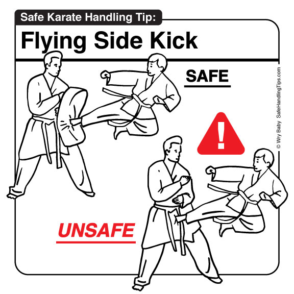 Karate Flying Side Kick