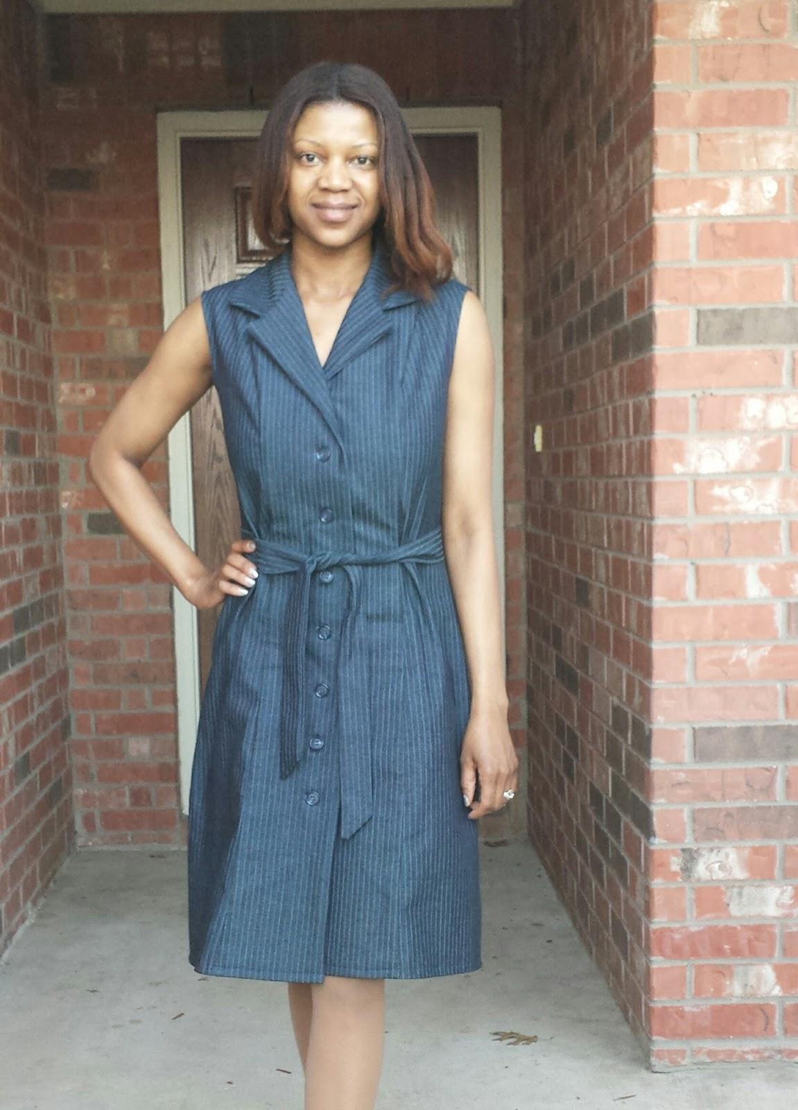 The Sewing CPA: McCall\'s M5847 Denim Dress