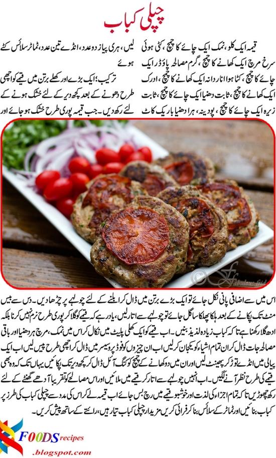 kfoods recipes chapli kabab recipe in urdu