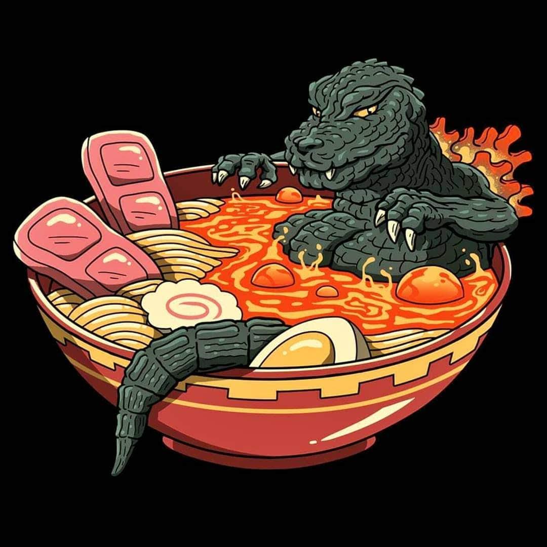 Godzilla-Ramen : ゴジラーメン😅