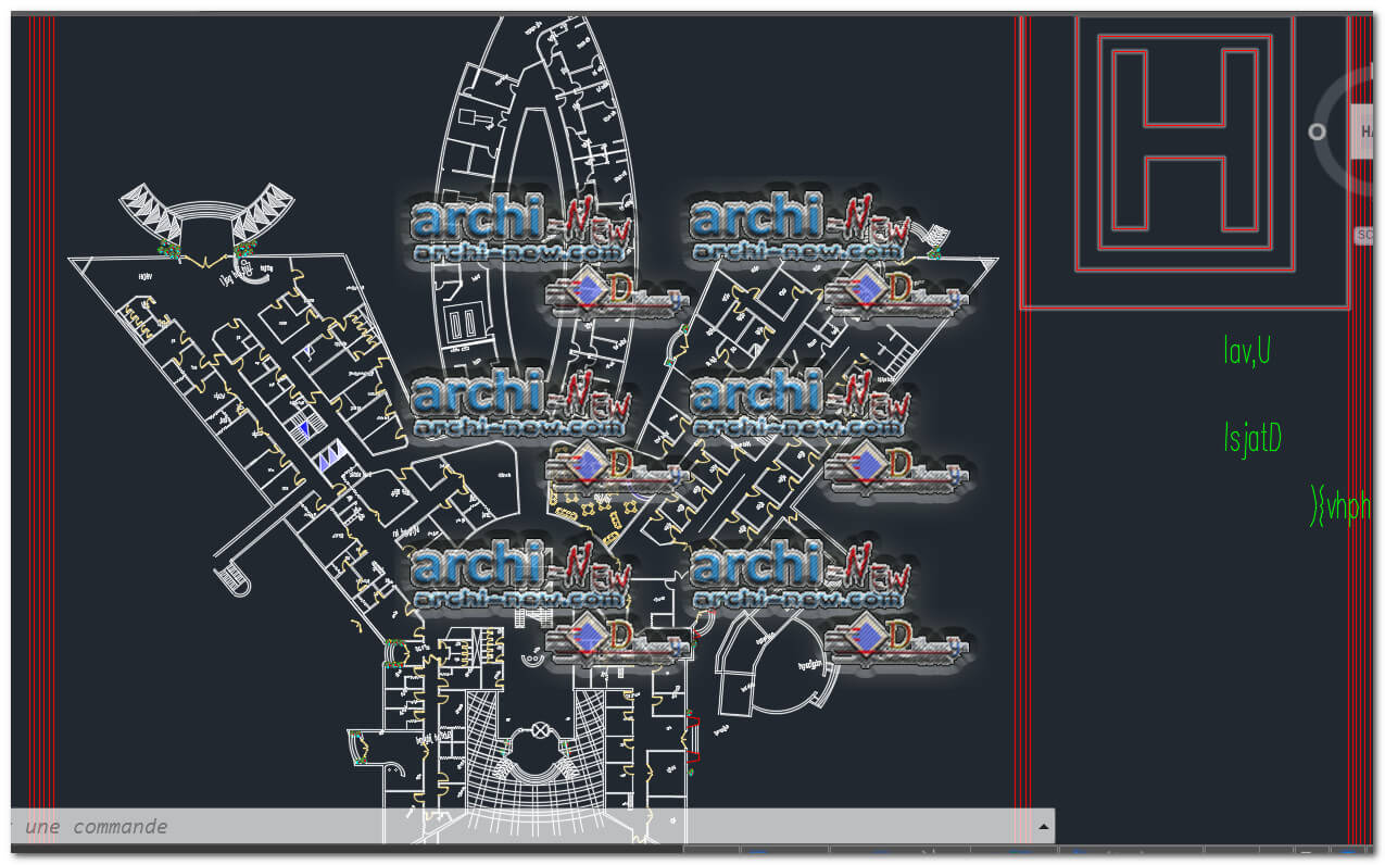 Outpatient Hospital Plan freecad Dwg Archi-new - Free Dwg