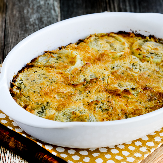 Onion Gratin with Rosemary and Thyme found on KalynsKitchen.com