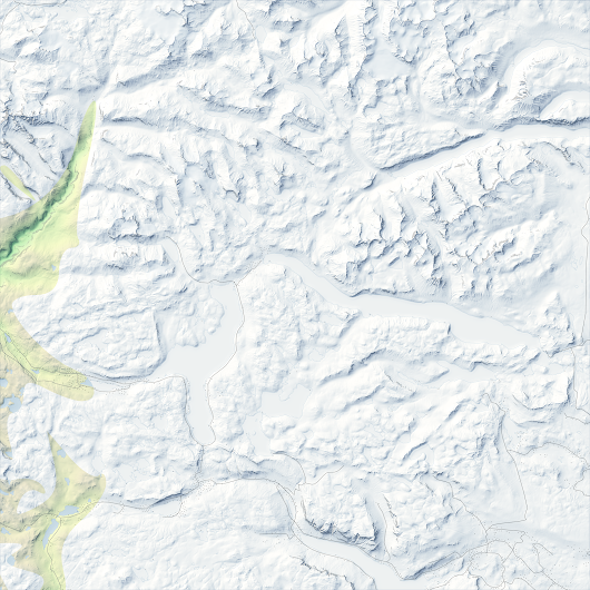 Mapping a real time snow cover