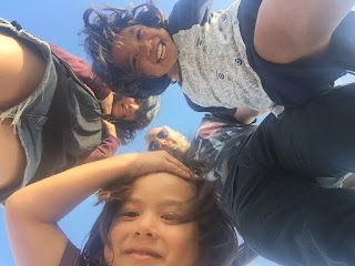 Family selfie at Huntington Beach earlier this year