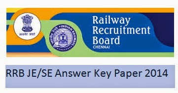 RRB JE/ SE Answer Key Paper