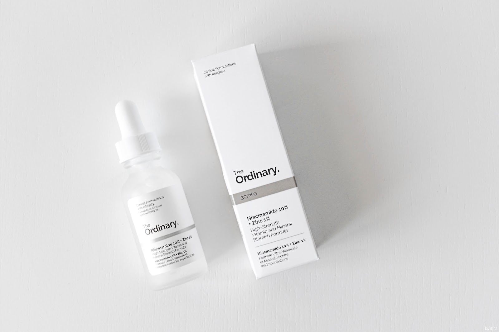 lavlilacs Deciem The Ordinary Niacinamide 10% + Zinc 1% flat lay