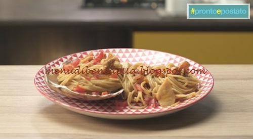Pronto e postato - Spaghetti con capesante ricetta Benedetta Parodi