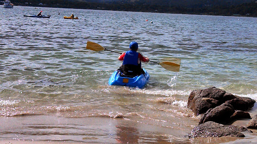 Wordless Wednesday - Not Too Cold To Paddle in Tasmanian Waters