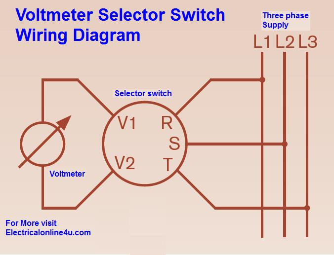 voltmeter selector switch wiring diagram for three phase rh electricalonline4u com rotary switch wiring diagram guitar rotary switch wiring diagram guitar