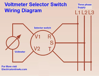 Voltmeter Selector Switch Wiring Diagram For Three Phase