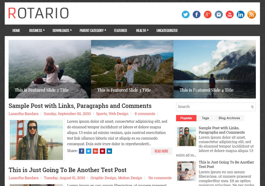 responsive blogger topic amongst a correct sidebar as well as  Free Download Rotario Blogger Template