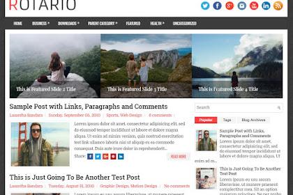 Free Download Rotario Blogger Template