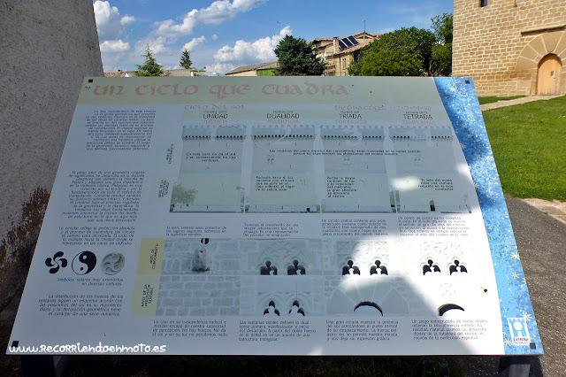 Cartel explicativo simbología Torre de Olcoz