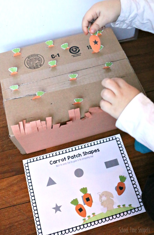 Peter Rabbit Shape Matching Activity